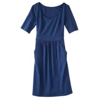 Merona Womens Ponte Elbow Sleeve Dress w/Pockets   Waterloo Blue   S