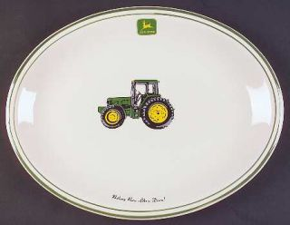Gibson Designs John Deere (Tractor) 13 Oval Serving Platter, Fine China Dinnerw