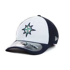 Seattle Mariners New Era MLB Diamond Era White Front 39THIRTY Cap