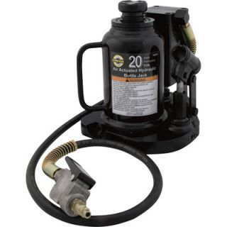 Omega 20 Ton Low Profile Air Actuated Bottle Jack, Model# 18209