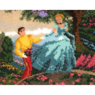 Latch Hook Kit 21x26 cinderella Wishes Upon A Dream