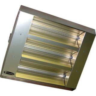 TPI Indoor/Outdoor Quartz Infrared Heater   25,298 BTU, Stainless Steel, Model#