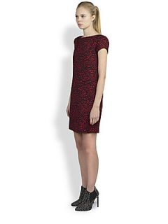 Saint Laurent Heart Print Dress   Rouge Noir