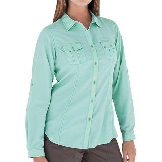 Royal Robbins Shore Line Shirt   UPF 50+  Long Sleeve (For Women)   CRYSTAL (L )