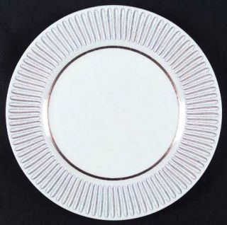 Royal Albert Capri Dinner Plate, Fine China Dinnerware   Yellow Line/Brown Dot Z