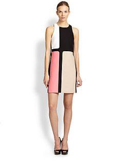 4.collective Colorblock Cotton Shift Dress   Azalea