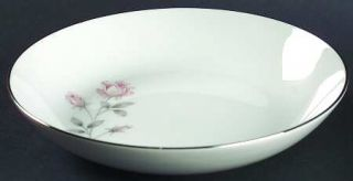 Royal Prestige Rose Crest Coupe Soup Bowl, Fine China Dinnerware   Pink&White Ro