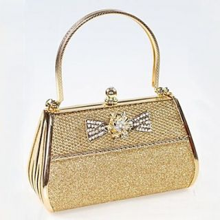 Womens The new gold diamond evening bag bride bag (lining color random)