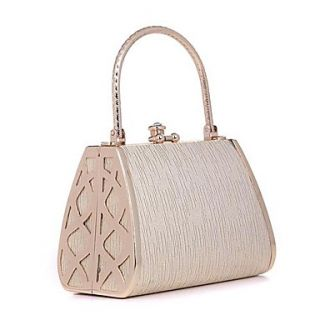 Womens Crusty golden metal diamond evening bag clutch bag dress(lining color on random)