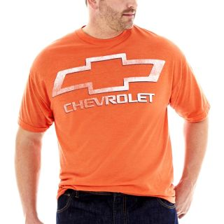 Chevy Logo Tee Big and Tall, Orange, Mens