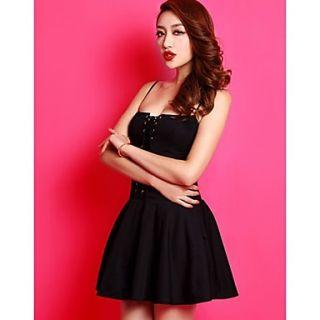Xuanran Womens Strap Black Dress
