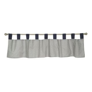 Trend Lab Perfectly Preppy Tab Top Valance, Green/Blue/Gray