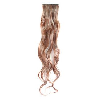 3 Pcs Clip in Synthetic Curly Hair Extensions with 2 Clips   4 Colors Available