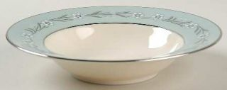 Franciscan Del Rio Rim Fruit/Dessert (Sauce) Bowl, Fine China Dinnerware   White