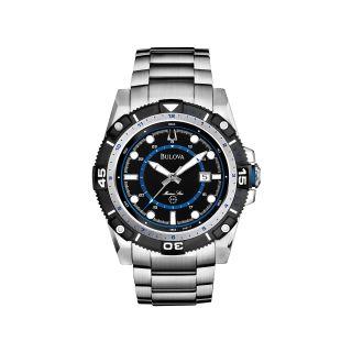 Bulova Marine Star Mens Silver Tone Watch