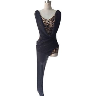 Dancewear Polyester With Tulle Latin Dance Dress for Ladies