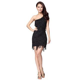 Dancewear Silk Wadding Latin Dance Dress For Ladies