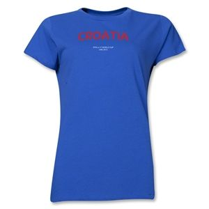 Croatia 2013 FIFA U 17 World Cup UAE Womens T Shirt (Royal)