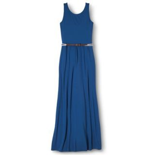 Merona Womens Maxi Dress w/Belt   Influential Blue   M