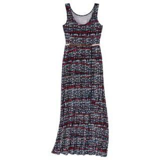 Merona Womens Maxi Dress w/Belt   Xavier Navy   S