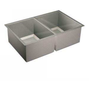 Moen G16200 1600 Series Stainless steel 16 gauge double bowl sink