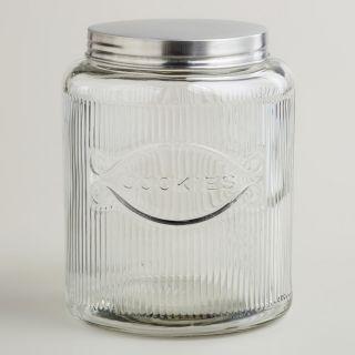 Large Hoosier Style Glass Cookie Jar   World Market