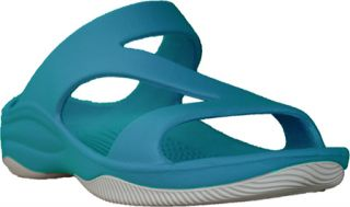 Womens Dawgs Z Sandal/Rubber Sole   Peacock/White Casual Shoes