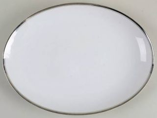 Fukagawa Platinum 12 Oval Serving Platter, Fine China Dinnerware   Arita, Plati
