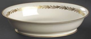 Franciscan Arcadia Gold 9 Oval Vegetable Bowl, Fine China Dinnerware   Gold Plu