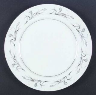 Harmony House China Platinum Garland Dinner Plate, Fine China Dinnerware   Plati