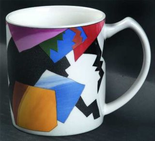 Mikasa Decoupage Mug, Fine China Dinnerware   Ultra Ceram,Fashion Plate,Geometri